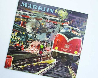 Marklin Toy Trains & Accessories 1962 Catalog, Vintage Toy Trains, Cars, Parts Illustrated Book Catalog