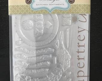 Papertrey Ink Brand New Stitched Sentiments Stamp Set