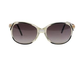Authentic YVES SAINT LAURENT Vintage Black Sunglasses Virgile 52-16mm 800 Nos
