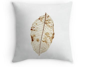 Skeleton of a Lemon Leaf Cushion