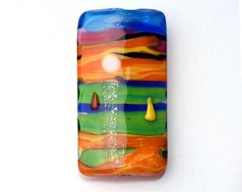 Glass Lampwork Bead - Hawaii Beach Sunset  Kalera Focal Bead 11840803