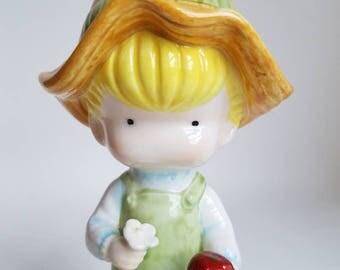 Joan Walsh Anglund Country Boy Vintage Porcelain Figurine 1981