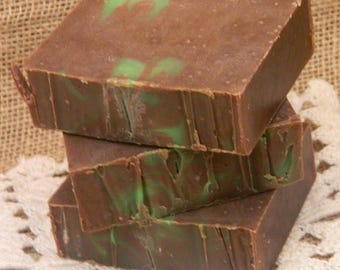 SALE Cold Processed Irish Mocha Mint Goats Milk Soap, natural soap, handmade soap, handcrafted soap