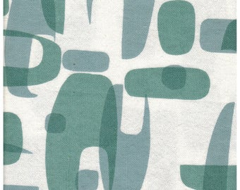 "Sale! 25"" x 27"" Original Screen Printed Medium Weight Linen Midcentury Modern design fabric"