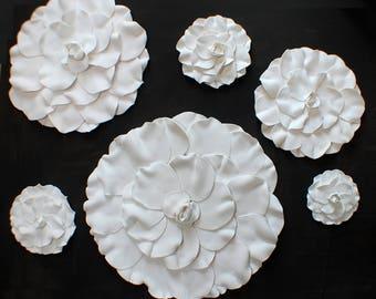 Camellia Clay Flowers - 3D Shop Window Display Prop Merchandising Display Floor-Standing or Wall Hanging Floral Display Window Dressing Prop