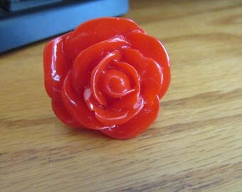 Big red rose ring