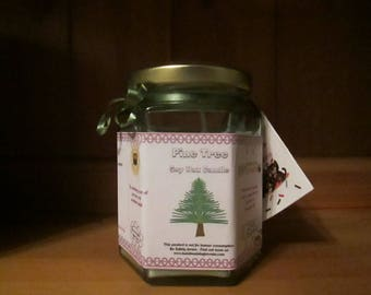 Pine Tree Scented Soy Wax Candle 300g