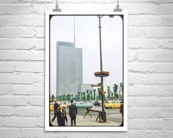 Chicago Photograph, Midcentury, Americana, Vintage Photograph, Illinois Picture, Gift for Him, Urban Art, Street Photograph, Millennium Park