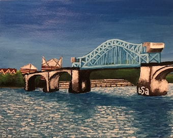 Market Street Bridge Original Painting