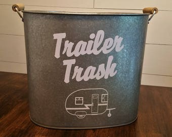 Trailer Trash Can