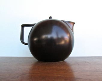 Sasaki Colorstone Vellum Black, Canonball Teapot by Massimo and Lela Vignelli