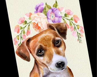 Dog Greeting Card-Jack Russell Greeting Card-Blank