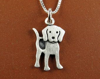 Tiny beagle necklace / pendant