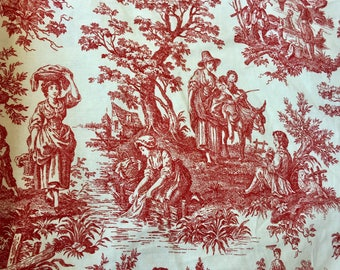 "Waverly Country Life 54"" Decorator Cotton Fabric Per Yard - FREE U.S. SHIPPING"