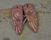 Ammonite Shard, Copper Point shaped pair
