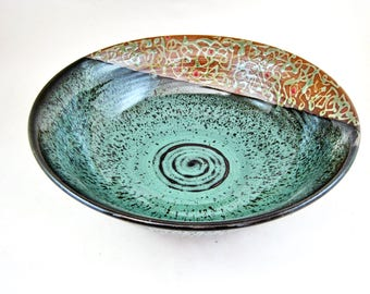 pottery serving bowl , Ceramic Bowl, Handmade Pottery Bowl, modern home decor - In stock  216SB