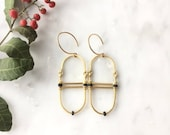 Gold and Black Hinged Swinging earrings
