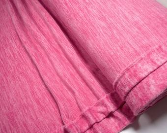 Fleece fabric pink melange 0.54yd (0,5m) 003795