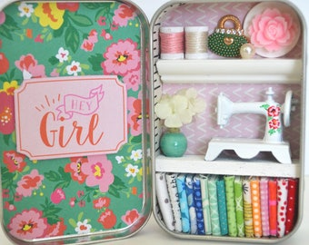 Tiny Tin Sewing Room ~ Hey Girl