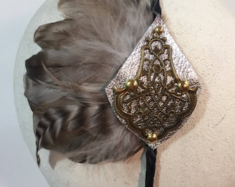 Silver Medallion Headband