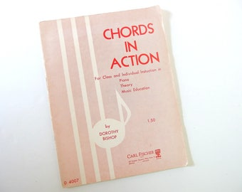 Chords in Action by Dorothy Bishop for Piano Class, Theory and Music Education
