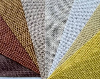 11 inch Burlap Runner - Beige - Ivory - Yellow - Natural - Harvest Gold - Brown