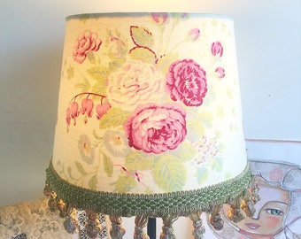 Lampshade for table lamp or use a pendant light antique French floral
