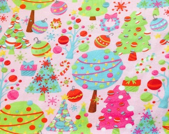 Christmas trees euro cotton lycra knit oeko tex import 1/2 yard