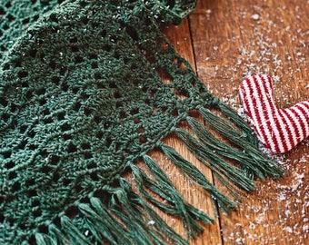 Crochet PATTERN - Christmas Lace Shawl