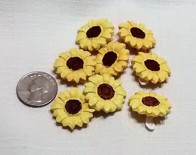 Featured listing image: B-112 Yellow Daisy Buttons