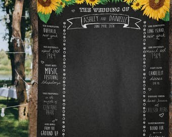 Sunflower Wedding, Sunflower Wedding Decor, Photo Booth Chalkboard, Wedding Photo Booth Backdrop Banner, County Wedding/ W-A07-TP REG1 QQ9