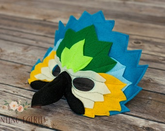 Indigo the Blue Macaw Mask for Costume or Pretend Play
