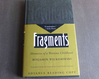 FRAGMENTS Advance Reading Copy, By Binjamin Wilkomirski