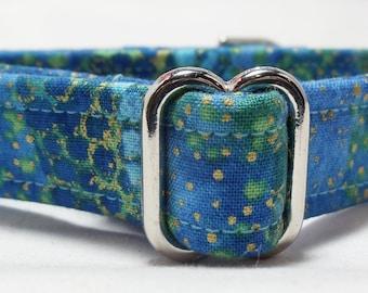 Blue Shimmer Greyhound, Whippet, Galgo, Pit Bull, Dog Sighthound Martingale Collar