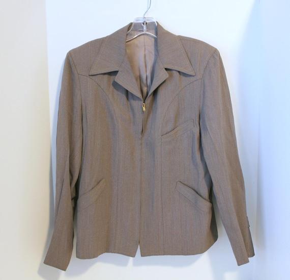 Vintage Rockabilly Western Jacket, Buckle Back Glenshore Ricky 1950s Style,