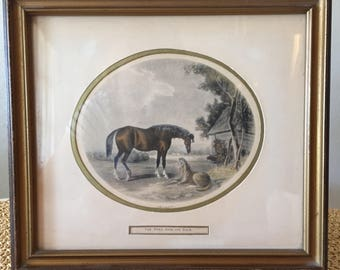 Foal With Its Dam Lithograph