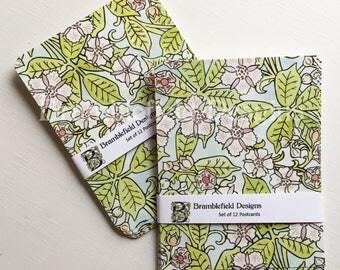 Floral Postcards Set of 6