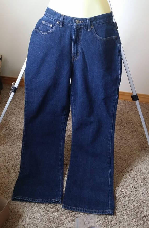 womens size 10 M blue jeans pants denim wide leg 29 x 30 clothing LA blues