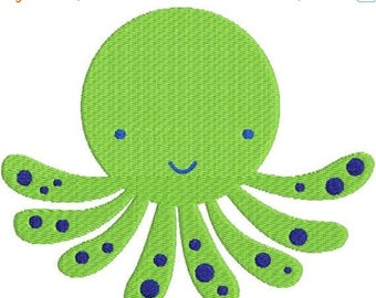 SALE 65% OFF Octopus with fill Machine Embroidery Design 4x4 and 5x7 Instant Download