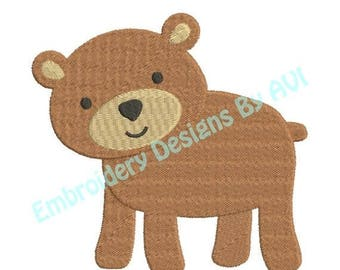 SALE 65% OFF Cute Bear Machine Embroidery Design 4x4 and 5x7 Instant Download