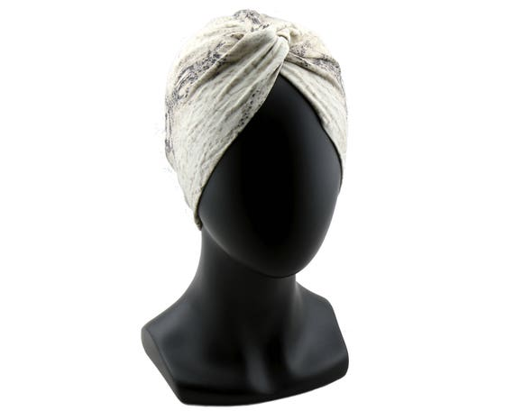 Snake Print Turban Hat Animal Pattern Stretch Turban Chemo Turban Hair Scarf Beach Turban Head Covering Hair Wrap Bohemian Chic Style
