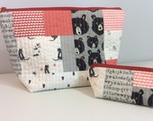 Patchwork Project Bag and Notions Bag Set