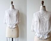 Walton Terrace blouse | antique Edwardian blouse | 1910s cotton blouse