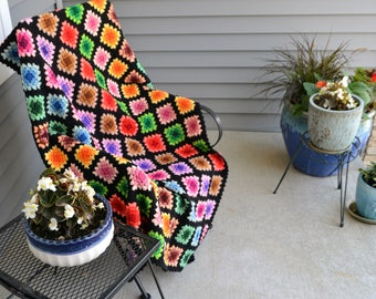 Hippie Chic Groovy Afghan