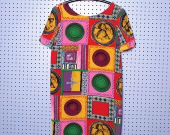 90s Baroque Nipon Boutique Silk Shift Dress