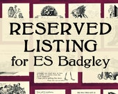 RESERVED LISTING for ES Badgley - greeting cards