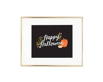 Happy Halloween Wall Art Print