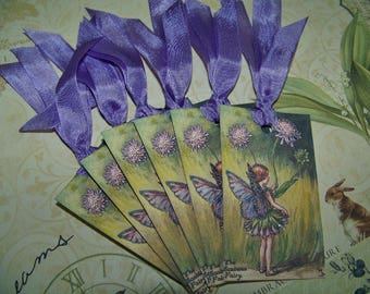 Fairy Tags Vintage Style Cecily Mary Barker Fairy Party Favors Fairy Decoration - Set of 6 or 9
