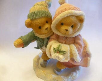 Cherished Teddies, Keith and Deborah, The Holidays Are Twice as Ice, 1998, Priscilla Hillman, Registered, No Box, Excellent Condition