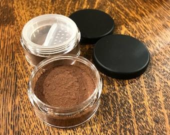 aloe Goat Milk + Buttermilk dark skin makeup Foundation | safe organic mineral powder makeup | full coverage CREAMY large 30 gram jar SALE